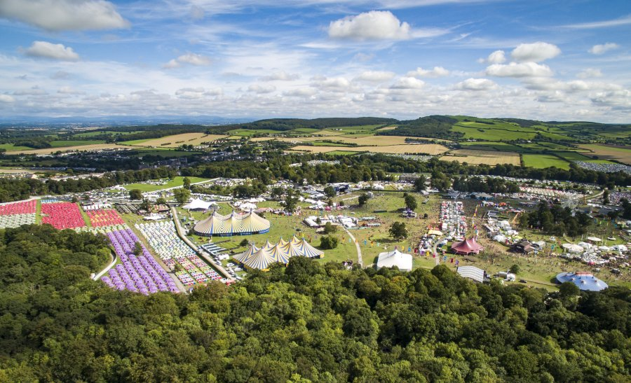 Aerial of electric picnic festival
